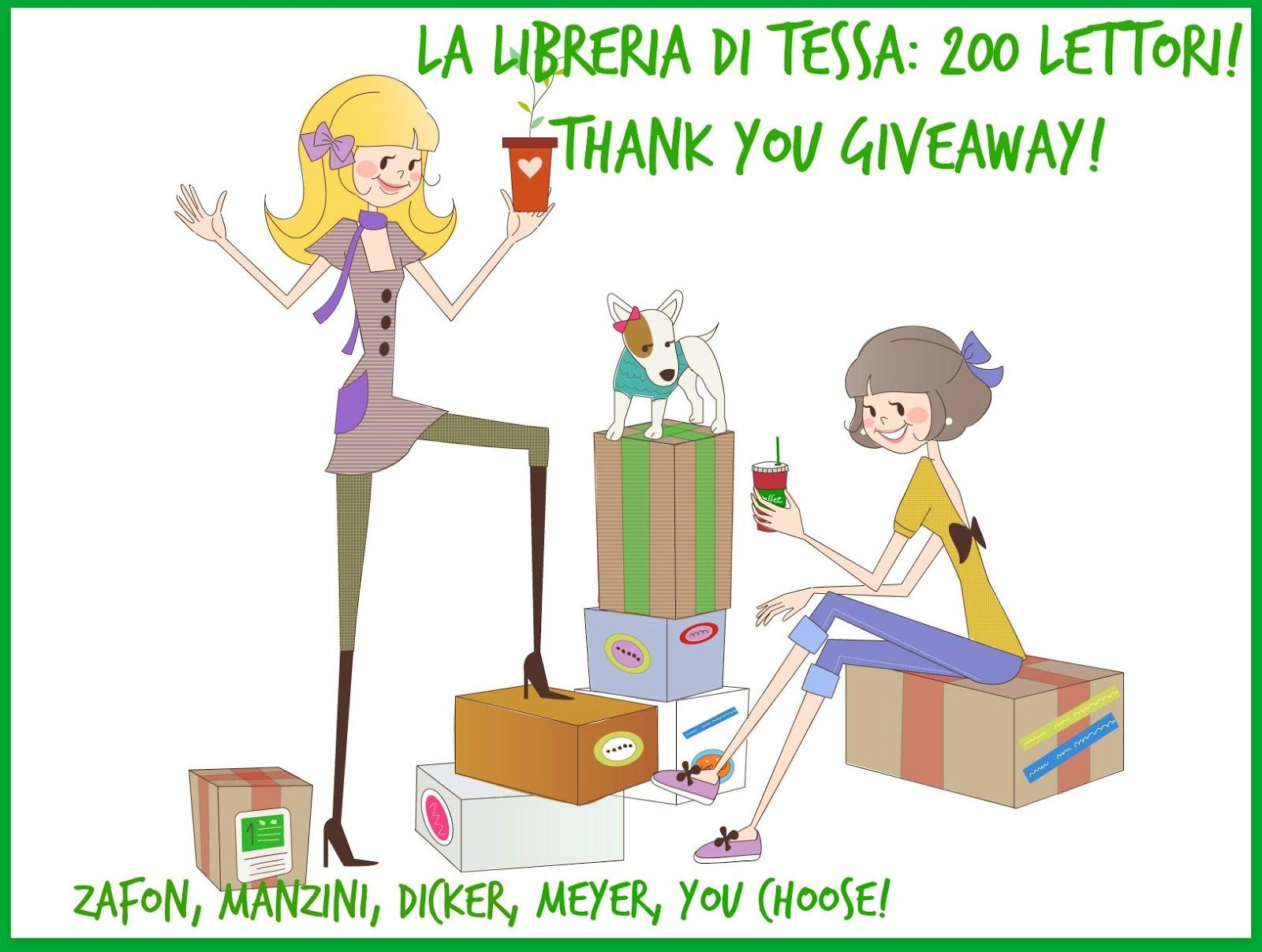 Partecipo al giveaway del blog La Libreria di Tessa