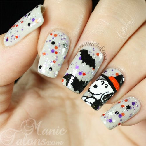 Glam Polish Snoopy the Witch Manicure