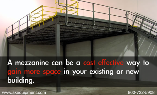 What is a mezzanine ak material handling systems for Wood mezzanine construction plan