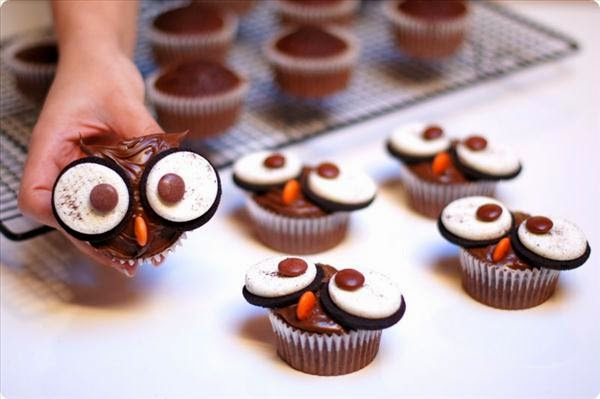 Owl Halloween Cupcakes