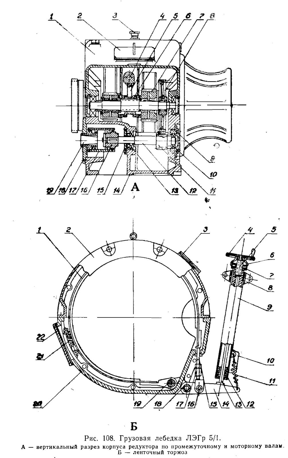 h схема управления траловой лебедки