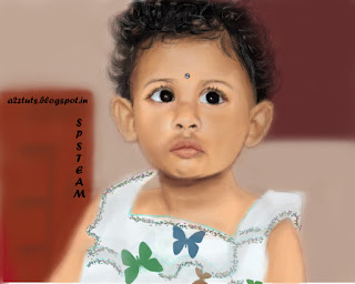 a2ztuts: DIGITAL PAINTING OF FAMOUS CUTE BABY