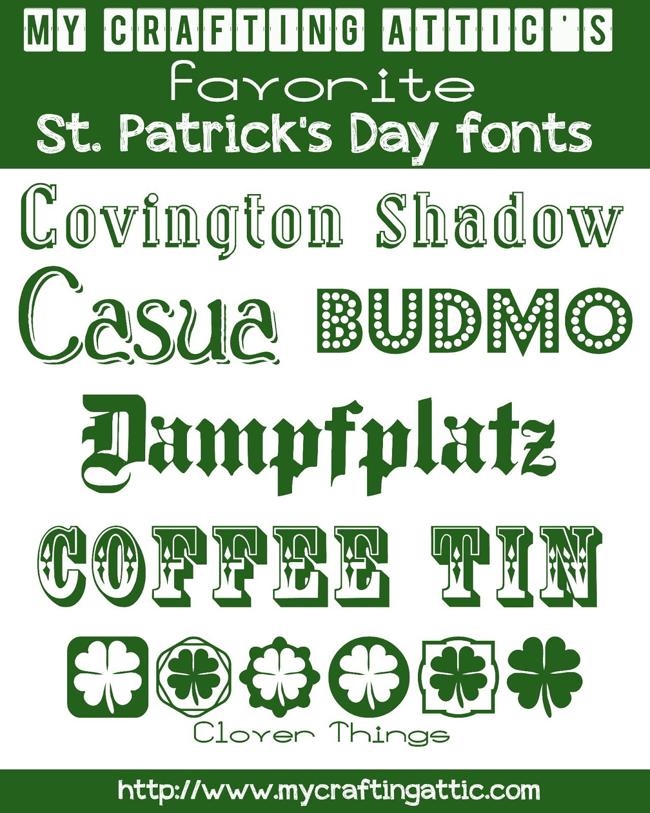 St patrick's day fonts &; free subway art