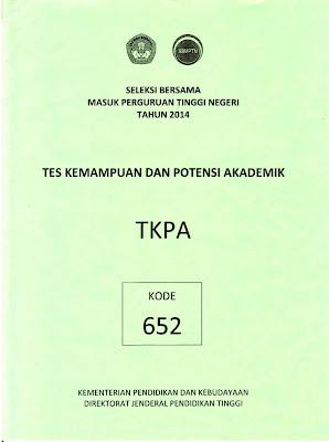 Naskah Soal Sbmptn 2014 Tes Kemampuan Dan Potensi Akademik (Tkpa) Kode Soal 612