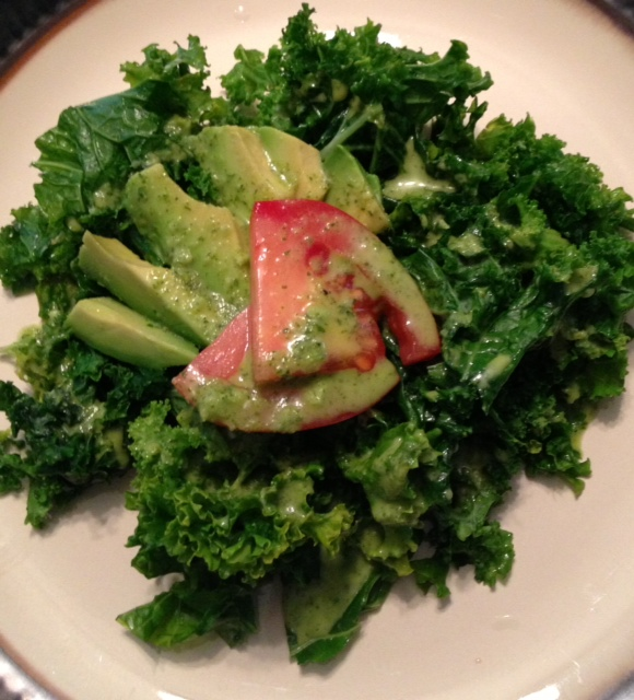 Citrus & Spice: Kale Salad with Cilantro Lime Dressing