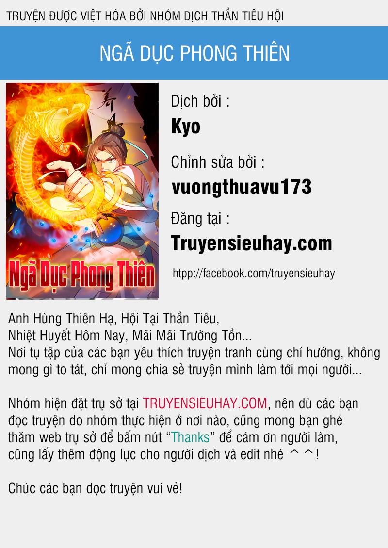 Ngã Dục Phong Thiên Chap 27 . Next Chap Chap 28