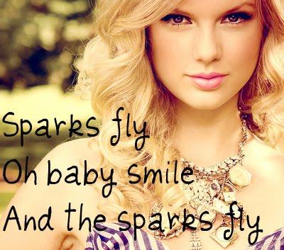 Sparks  Taylor Swift Lyrics on Sparks Fly Lyrics By Taylor Swift   My Music   My Music