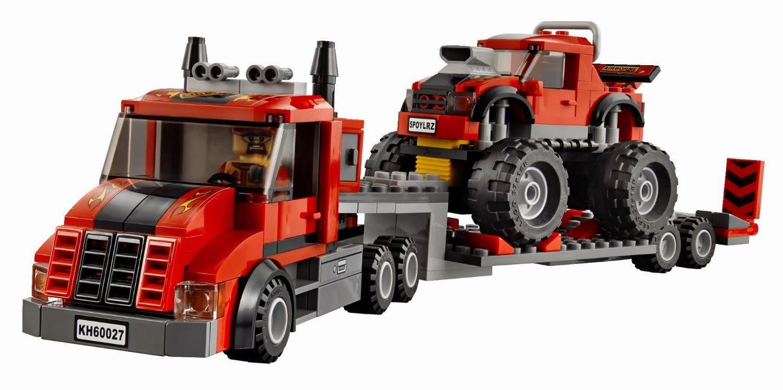 Lego city monster truck transporter 60027 my lego style