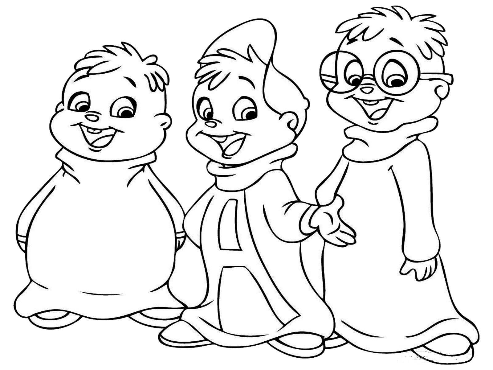 chipmunks coloring pages printable - photo#35