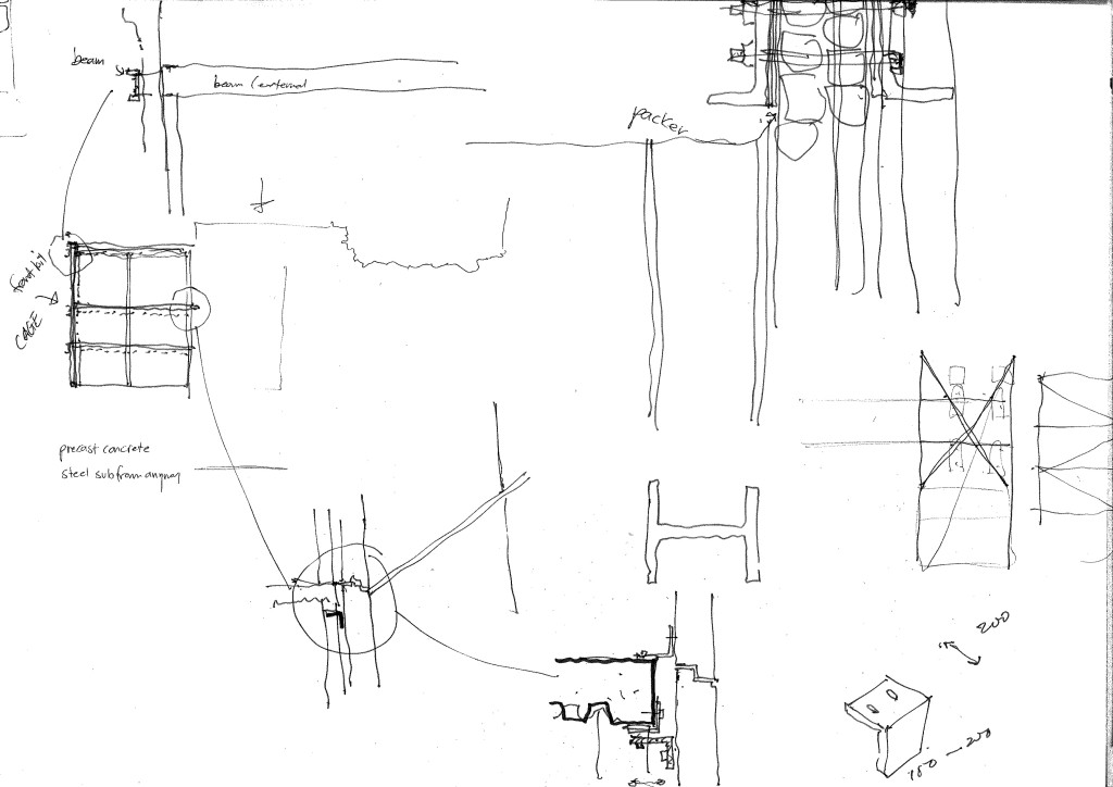 design 6 detail drawings for structure