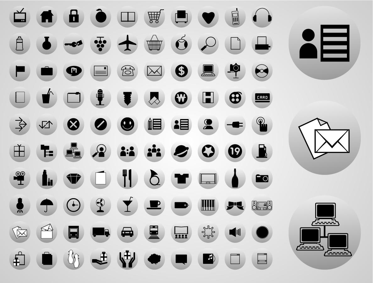 ウェブ デザイン アイコン web design Icons イラスト素材