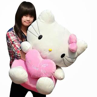 Gambar boneka hello kitty jumbo murah
