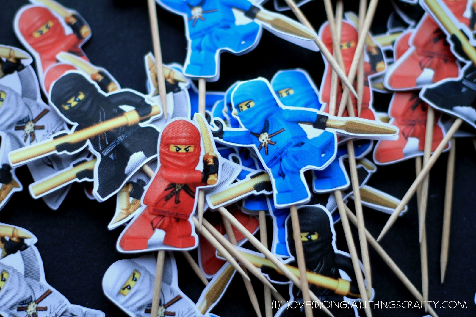 I Love Doing All Things Crafty Ninjago Cupcake Toppers Free Print