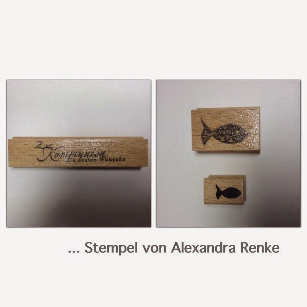Kommunionskarten Stempel Alexandra Renke