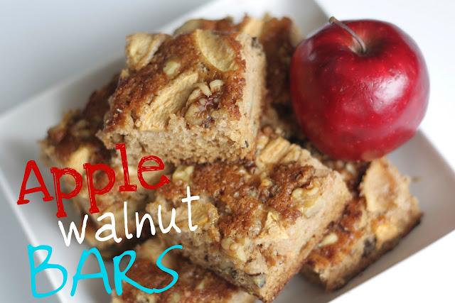 apple walnut bars
