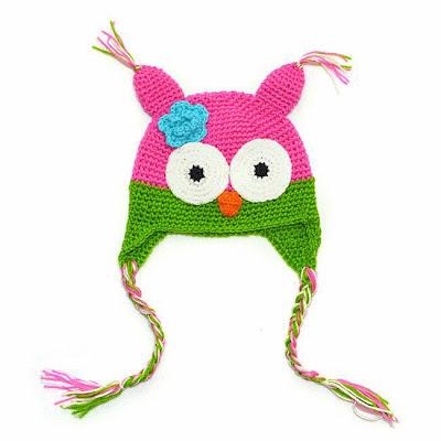 mũ len đẹp cho bé gái hình cú