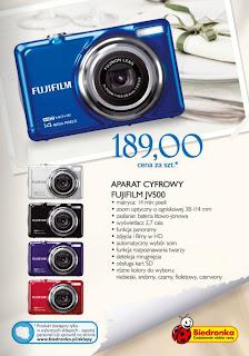 Aparat cyfrowy Fujifilm JV500 Biedronka ulotka