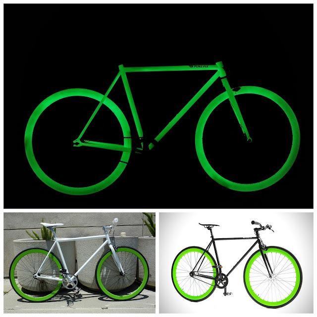 Bicicleta fluorescente