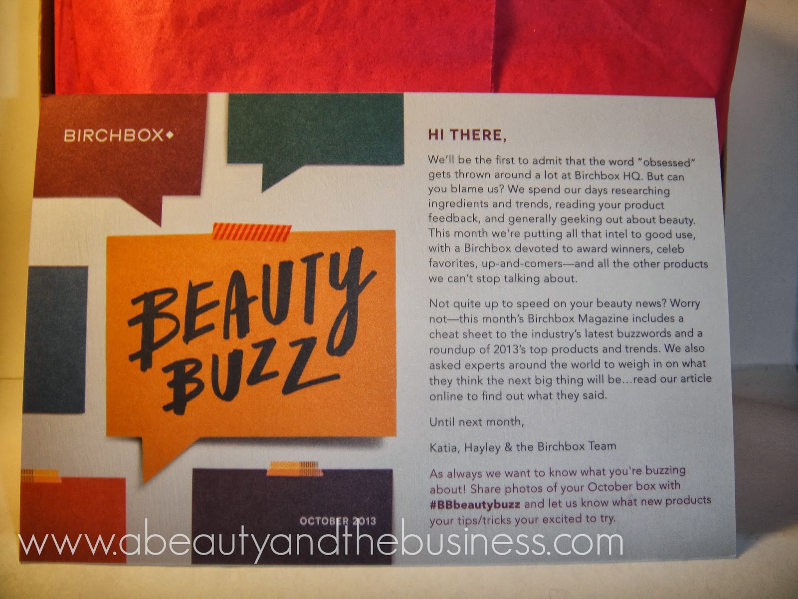 birchbox, birchbox october, bbbeautybuzz, birchbox 2013, birchbox october 2013,