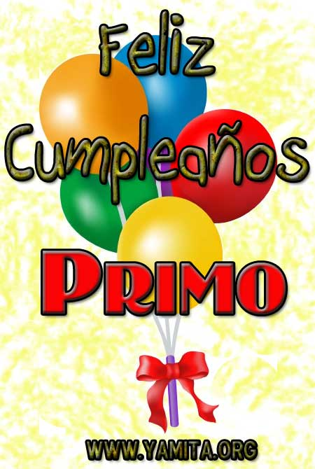 Feliz Cumpleaos Primo I | Tarjetas Cristianas 