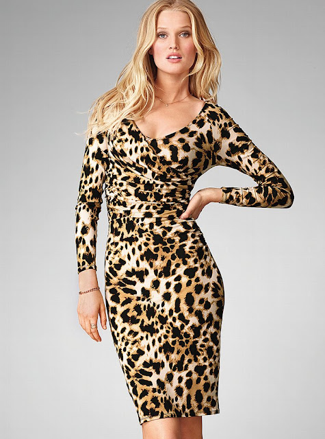 Toni Garrn in Tiger Dress