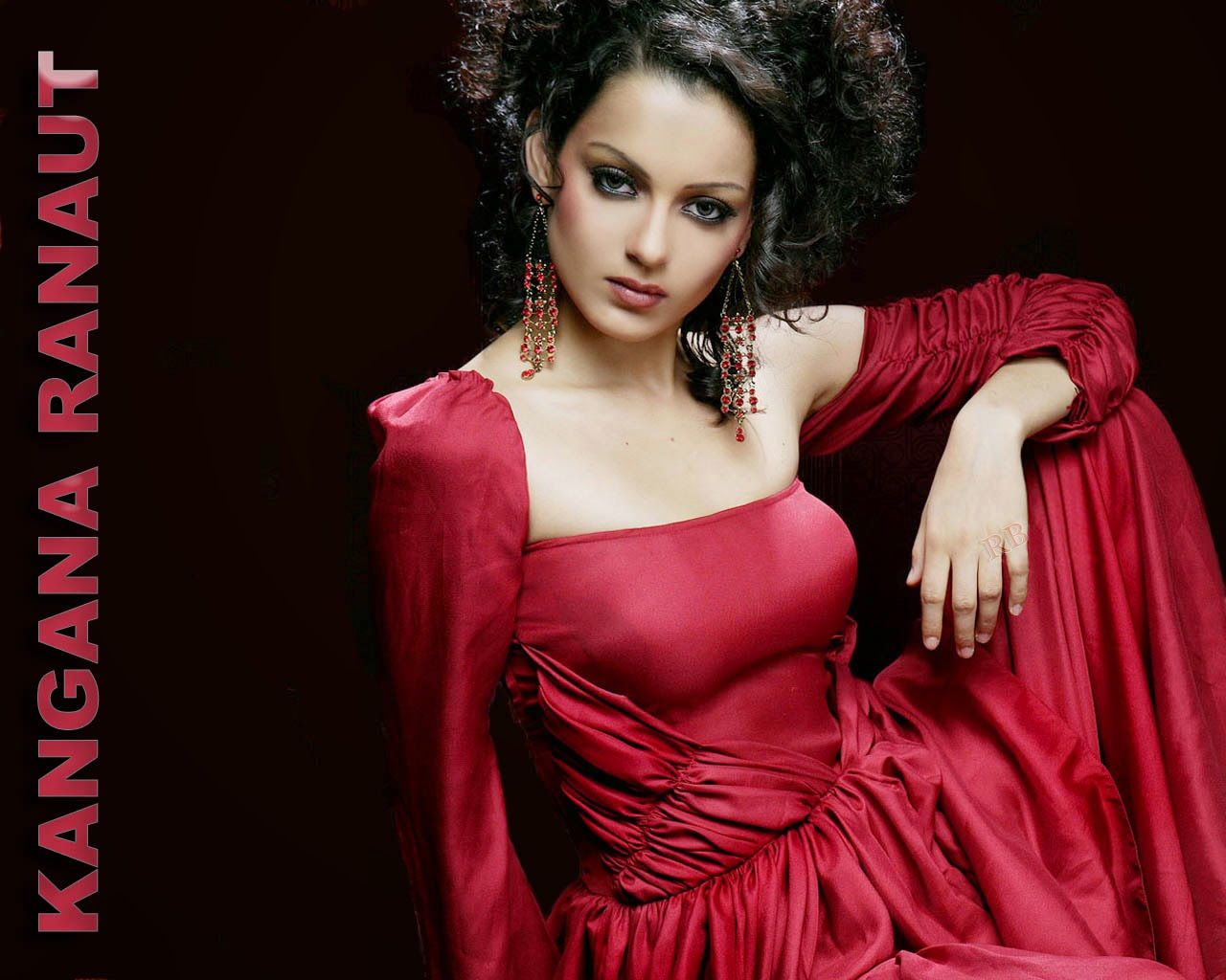 Kangana ranaut hot sexy in red dress hd free nice wallpaper