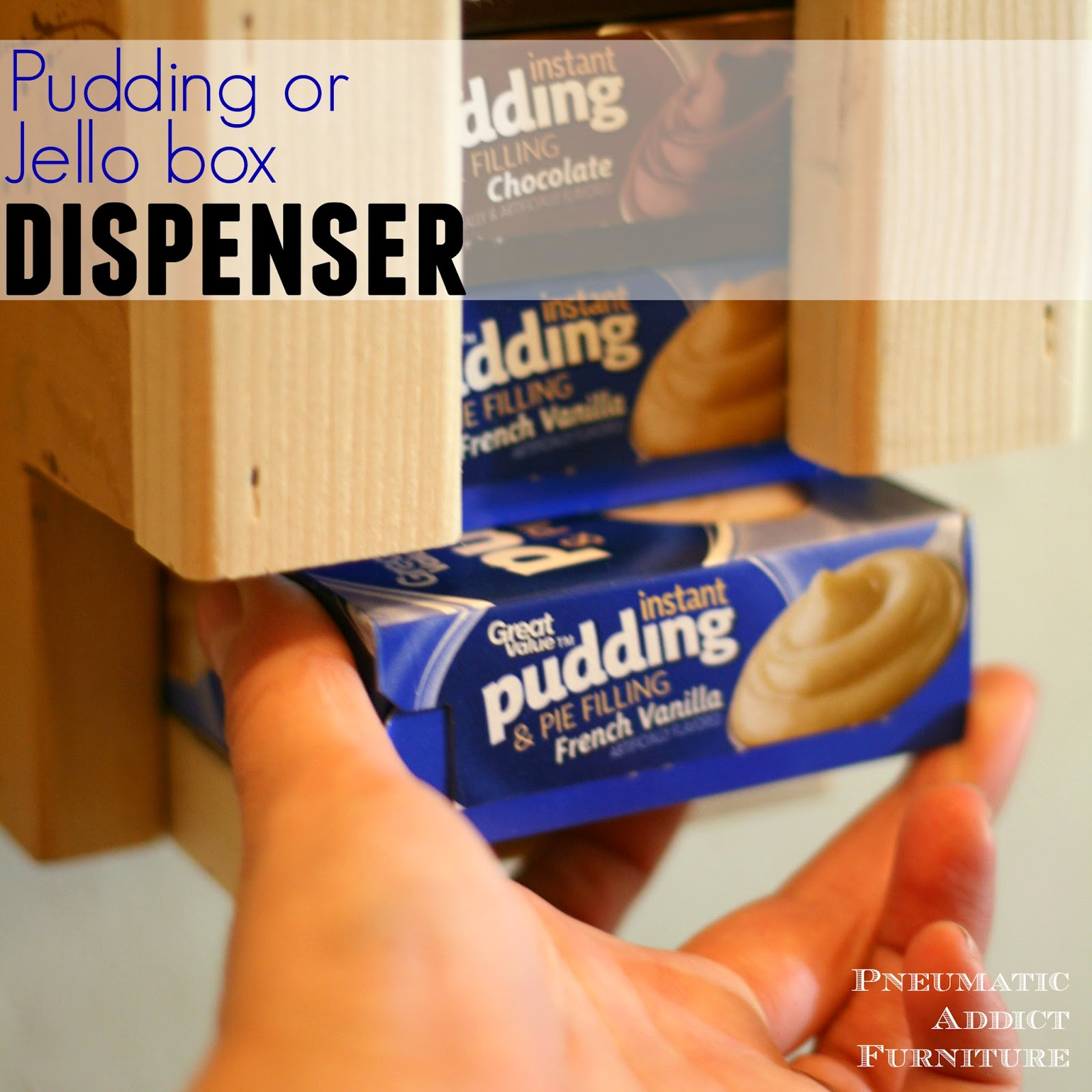 diy pudding or jello box dispenser