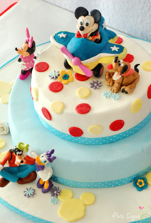 Kessy S Pink Sugar Mickey Mouse Torte Und Ein Give Away