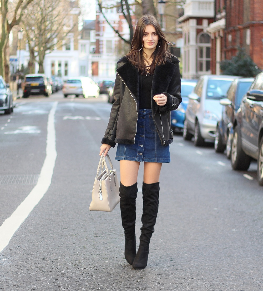 peexo fashion blogger wearing outfit for mild winter