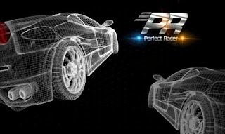 Screenshots of the PR: Perfect Racer for Android tablet, phone.