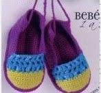 Zapatos de Bebe a Crochet o Ganchillo