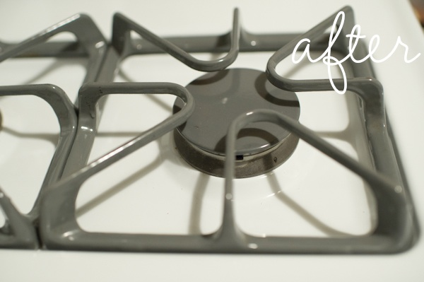how to clean gas stove top burner grates