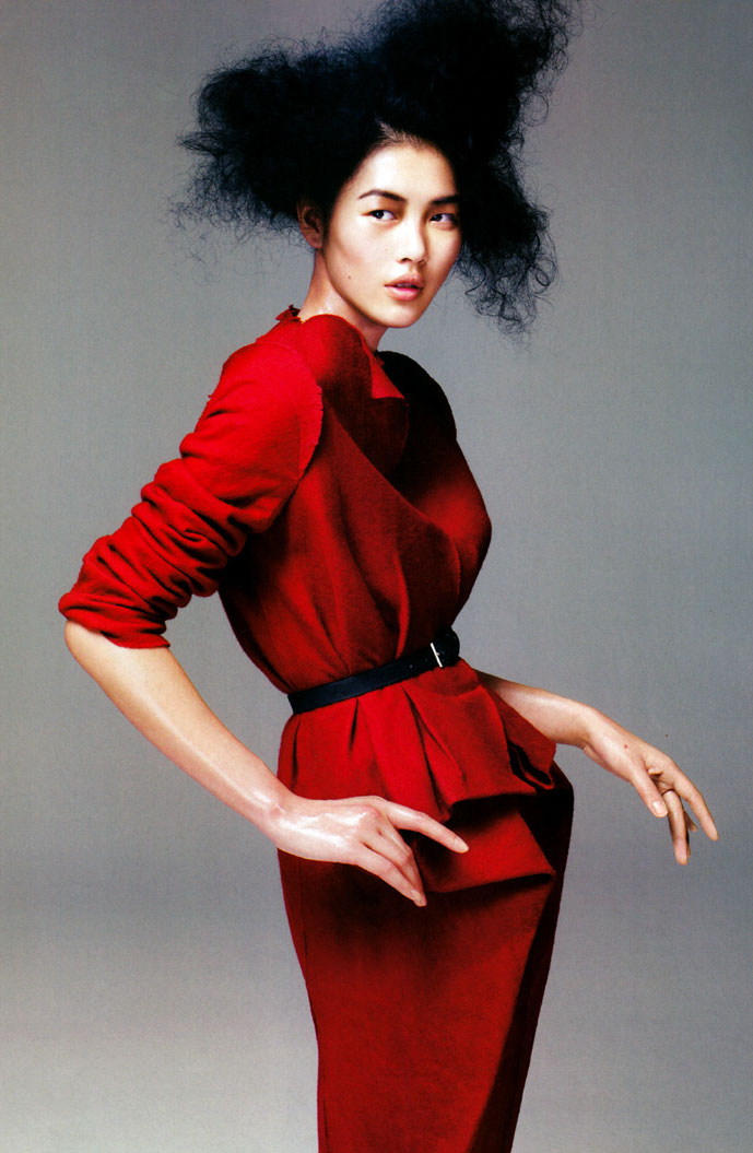 Liu Wen in Vogue China October 2009 (photography: Kai Z Feng, styling: Jamie Surman),