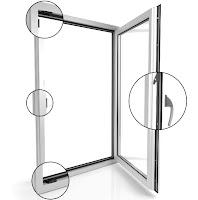Designerskie okno V82 Black Design VETREX