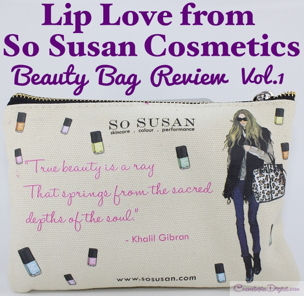 Inaugural Lip Love Monthly Beauty Bag 2015 review, unboxing