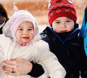 Princess Charlotte and Prince George on Ski Holiday