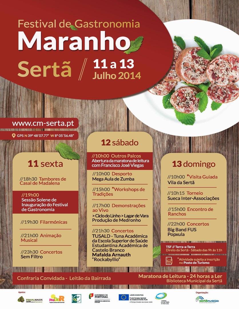 Programa do festival do Maranho da Sertã em 2014