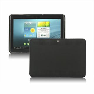 TPU Case (Semacam Silicon Case/ Jelly Case) Dengan Anti Slip Texture Untuk Samsung Galaxy Tab 2 10.1 P5100 - Black