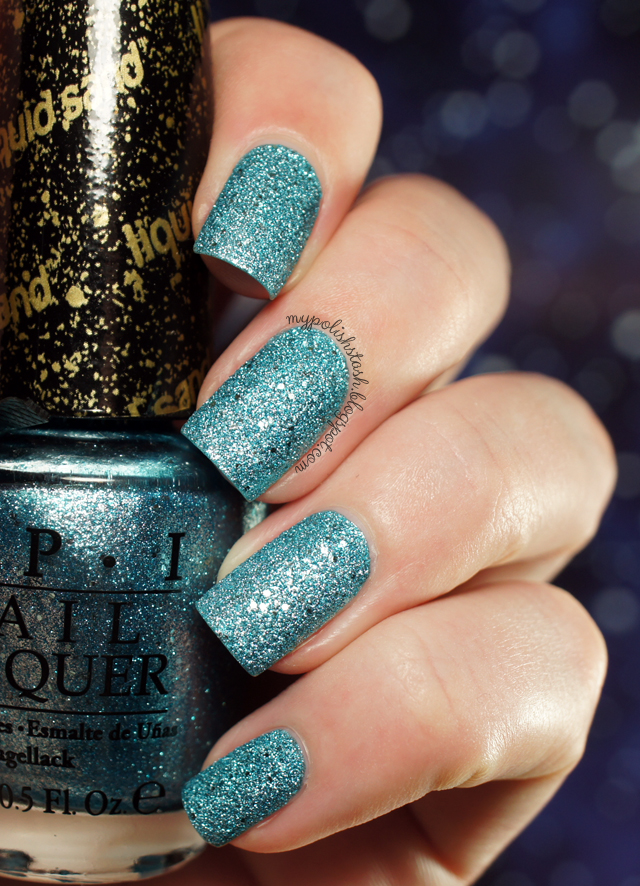 textured nail polish aqua metallic