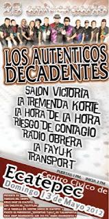 Los Autenticos Decadentes en el Centro Civico de Ecatepec