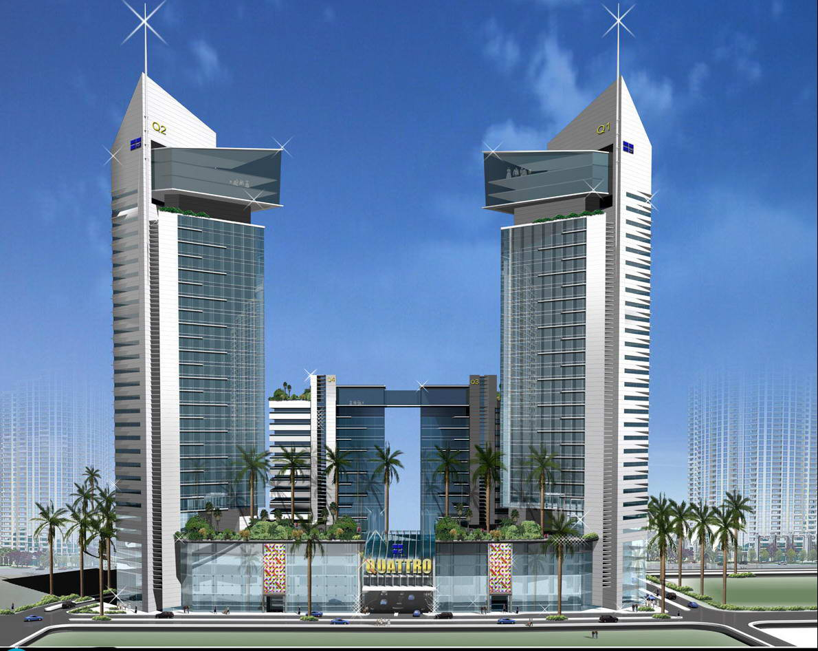 World tour center dubai city buildings for Building an estate
