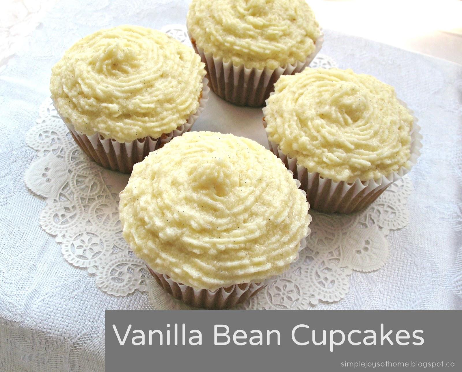 Simple Joys of Home - Vanilla Bean Cupcakes