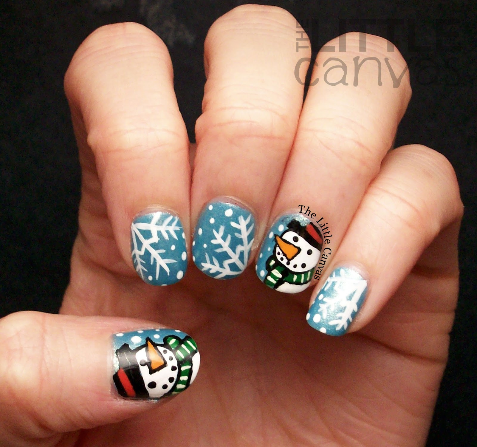 Snowman Nail Art Tutorial: Snowman Nail Art Inspired By SimplyRins