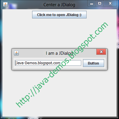 Center JDialog on Screen & JFrame in Java Swing