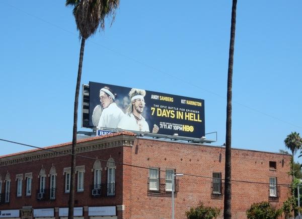 7 Days in Hell film billboard