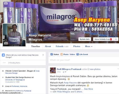 Gambar depan akun Facebook saya yang juga  sudah berubah tampilannya