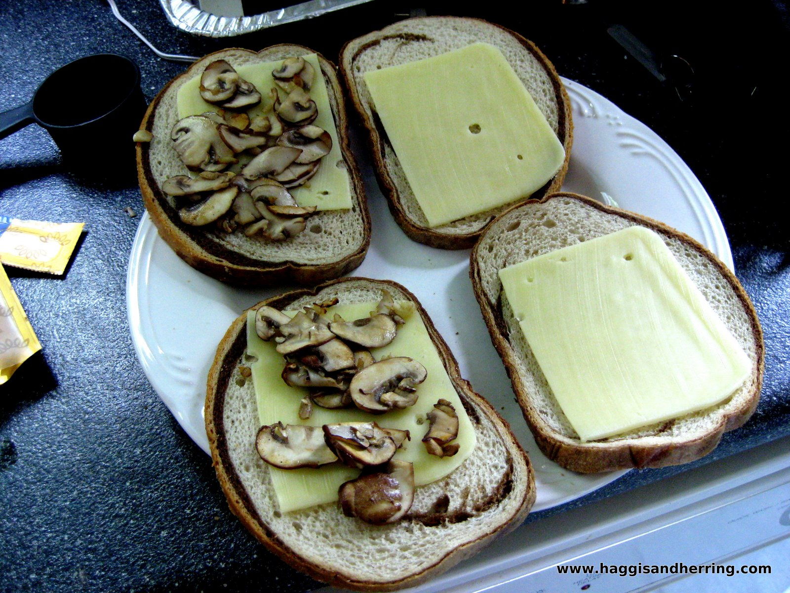 ... Grilled Cheese Sandwiches with Jarlsberg Cheese and Sauteed Mushrooms