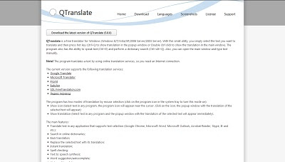 QTranslate, Dictionary