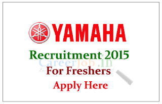 Yamaha Off Campus Drive for freshers for the post of Junior Engineers