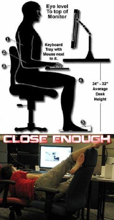 posisi duduk depan komputer yang betul